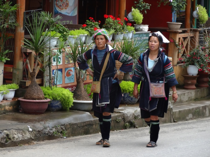 A couple of women in Sapa